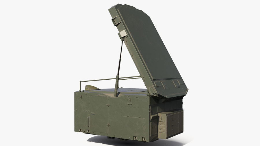 S300 Flap Lid B Missile Guidance Radar Rigged royalty-free 3d model - Preview no. 2