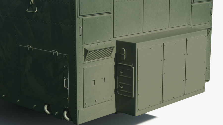 S300 Flap Lid B Missile Guidance Radar Rigged royalty-free 3d model - Preview no. 18