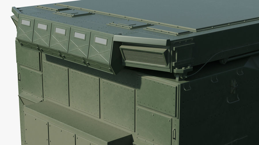 S300 Flap Lid B Missile Guidance Radar Rigged royalty-free 3d model - Preview no. 17
