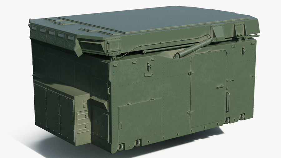 S300 Flap Lid B Missile Guidance Radar Rigged royalty-free 3d model - Preview no. 11