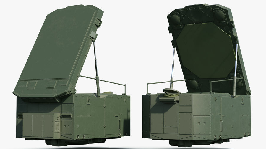 S300 Flap Lid B Missile Guidance Radar Rigged royalty-free 3d model - Preview no. 6