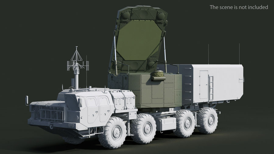 S300 Flap Lid B Missile Guidance Radar Rigged royalty-free 3d model - Preview no. 5