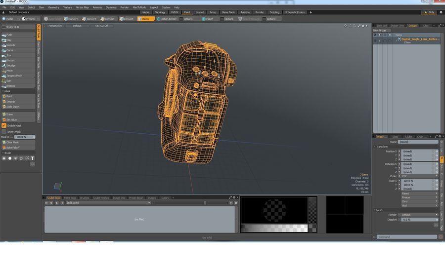 Digitale Spiegelreflexkamera royalty-free 3d model - Preview no. 31