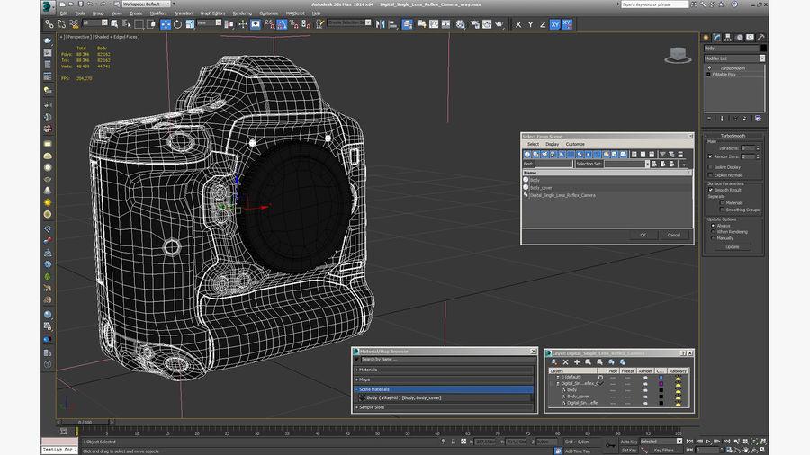 Digitale Spiegelreflexkamera royalty-free 3d model - Preview no. 22