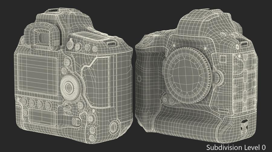 Digitale Spiegelreflexkamera royalty-free 3d model - Preview no. 18