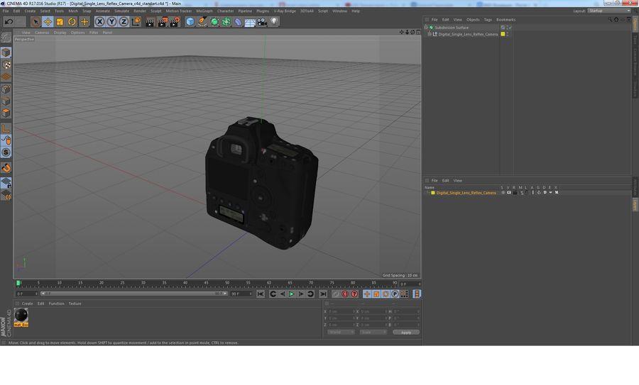 Digitale Spiegelreflexkamera royalty-free 3d model - Preview no. 29