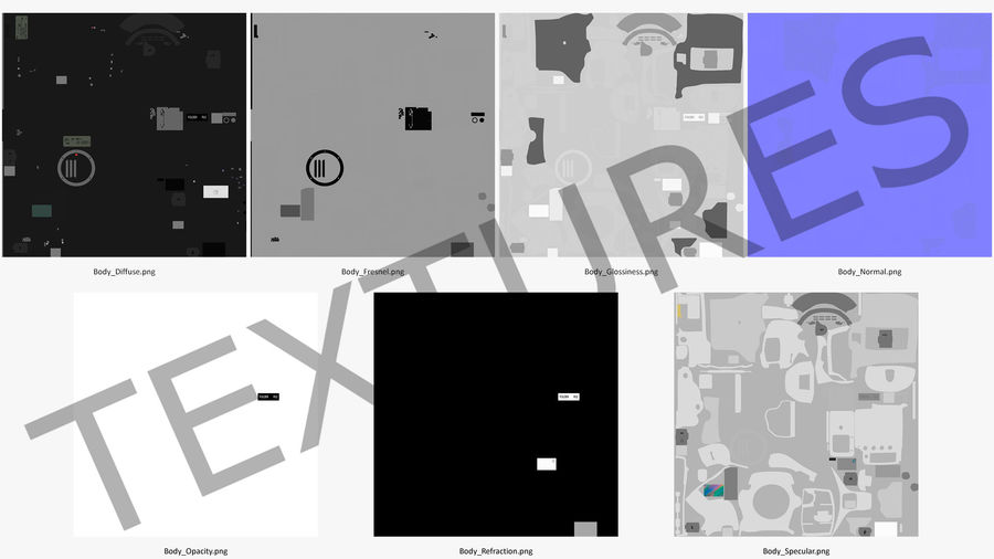 Digitale Spiegelreflexkamera royalty-free 3d model - Preview no. 21