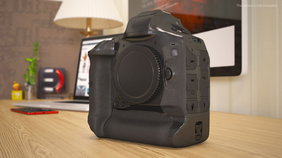 Digitale Spiegelreflexkamera royalty-free 3d model - Preview no. 4