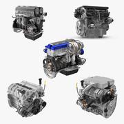 車のエンジンコレクション 3d model