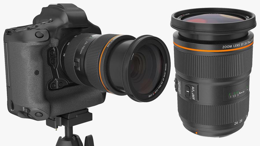 DSLR-kamera med zoom på stativ royalty-free 3d model - Preview no. 11