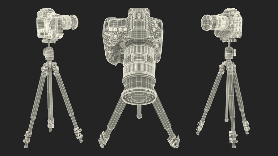 DSLR-kamera med zoom på stativ royalty-free 3d model - Preview no. 26