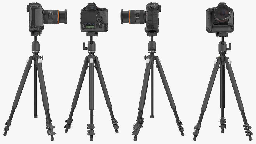 DSLR-kamera med zoom på stativ royalty-free 3d model - Preview no. 9