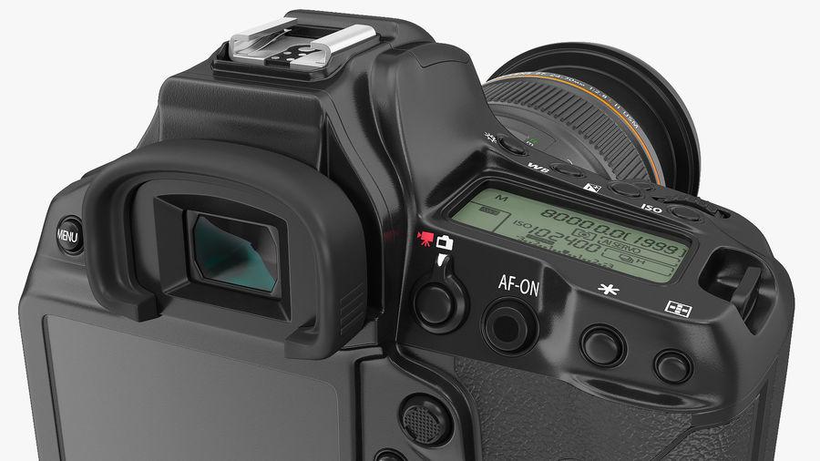 DSLR-kamera med zoom på stativ royalty-free 3d model - Preview no. 17