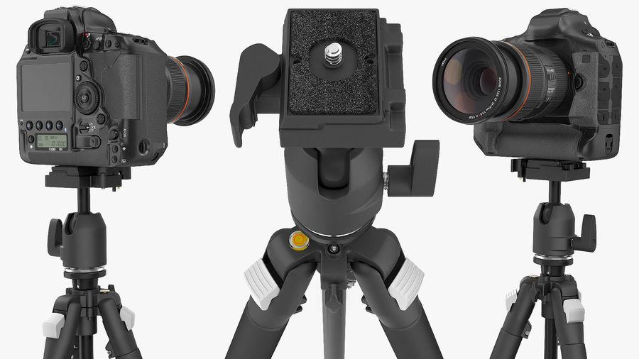 DSLR-kamera med zoom på stativ royalty-free 3d model - Preview no. 10