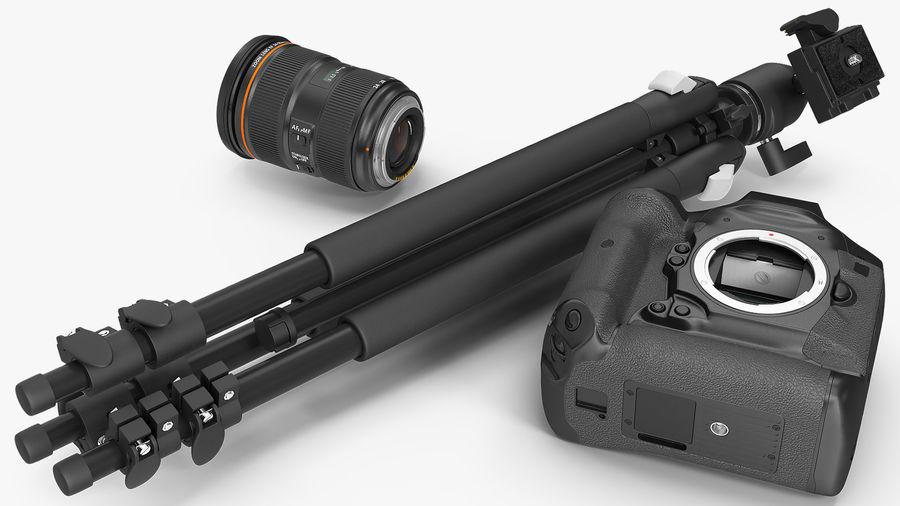 DSLR-kamera med zoom på stativ royalty-free 3d model - Preview no. 8