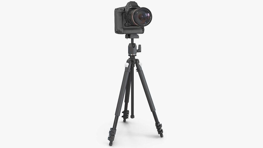DSLR-kamera med zoom på stativ royalty-free 3d model - Preview no. 2
