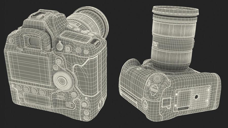DSLR-kamera med zoom på stativ royalty-free 3d model - Preview no. 30