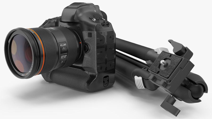 DSLR-kamera med zoom på stativ royalty-free 3d model - Preview no. 7