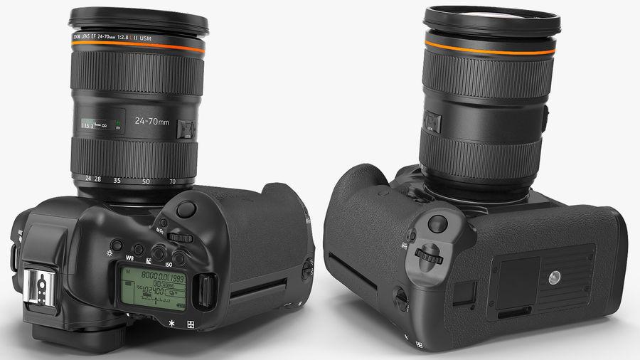 DSLR-kamera med zoom på stativ royalty-free 3d model - Preview no. 15