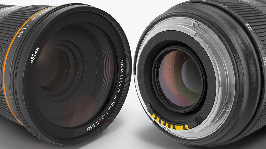 DSLR-kamera med zoom på stativ royalty-free 3d model - Preview no. 20