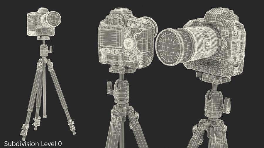 DSLR-kamera med zoom på stativ royalty-free 3d model - Preview no. 21