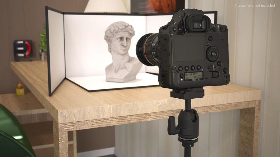 DSLR-kamera med zoom på stativ royalty-free 3d model - Preview no. 4