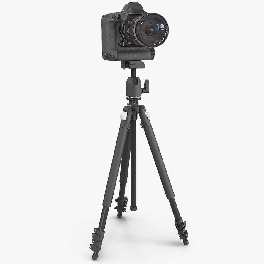 DSLR-kamera med zoom på stativ royalty-free 3d model - Preview no. 1