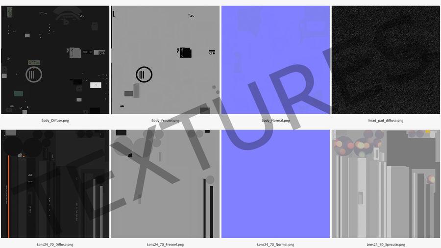 DSLR-kamera med zoom på stativ royalty-free 3d model - Preview no. 24