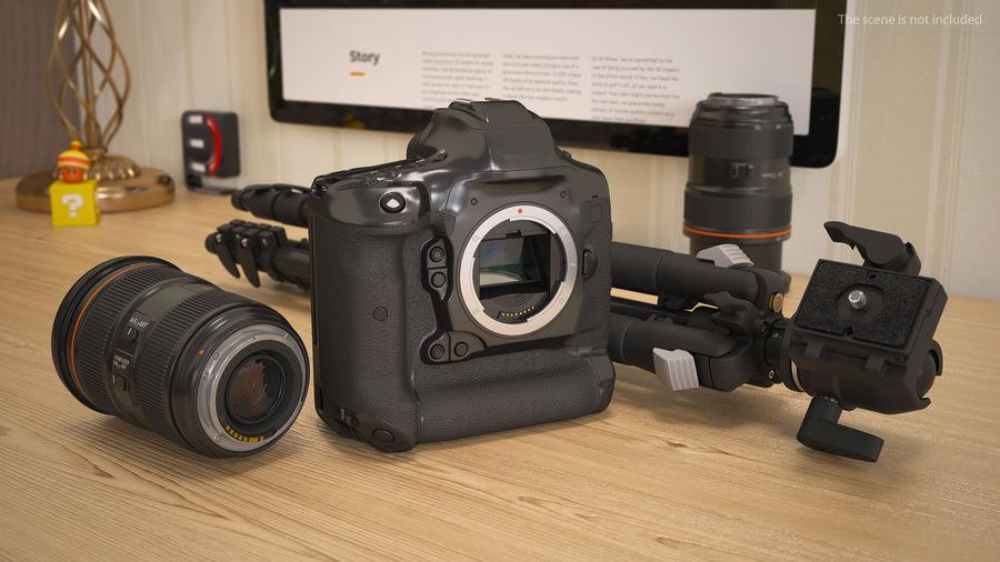 DSLR-kamera med zoom på stativ royalty-free 3d model - Preview no. 5