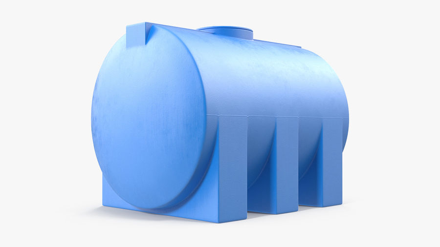 プラスチック製の貯水タンクコレクション royalty-free 3d model - Preview no. 6