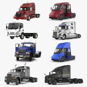 Коллекция грузовых автомобилей 3 3d model