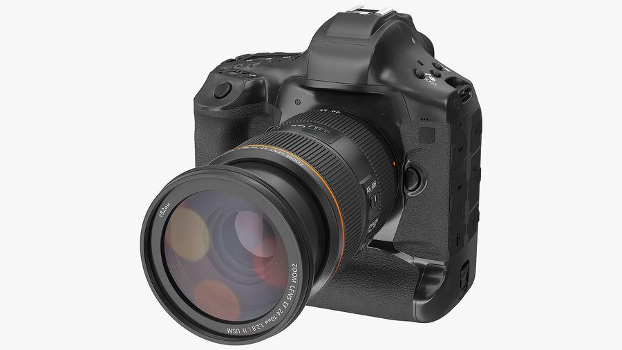 Digitale Spiegelreflexkamera mit Zoom royalty-free 3d model - Preview no. 2