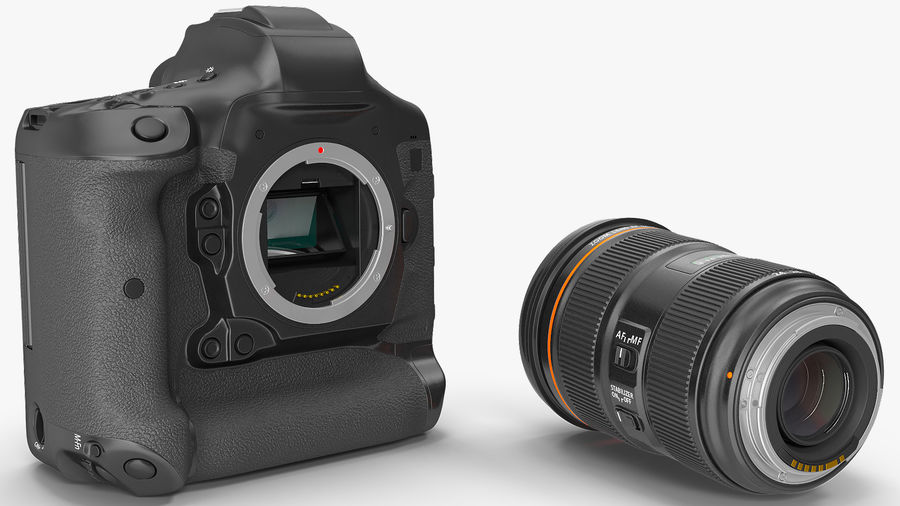 Digitale Spiegelreflexkamera mit Zoom royalty-free 3d model - Preview no. 11