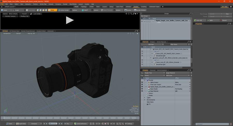 Digitale Spiegelreflexkamera mit Zoom royalty-free 3d model - Preview no. 34