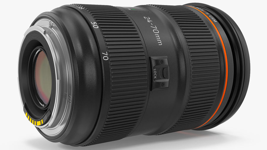 Digitale Spiegelreflexkamera mit Zoom royalty-free 3d model - Preview no. 14