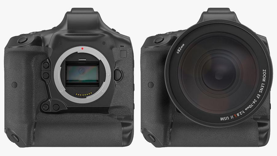 Digitale Spiegelreflexkamera mit Zoom royalty-free 3d model - Preview no. 10