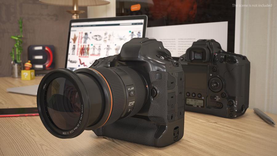 Digitale Spiegelreflexkamera mit Zoom royalty-free 3d model - Preview no. 4
