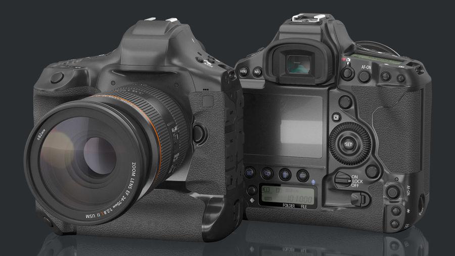 Digitale Spiegelreflexkamera mit Zoom royalty-free 3d model - Preview no. 3