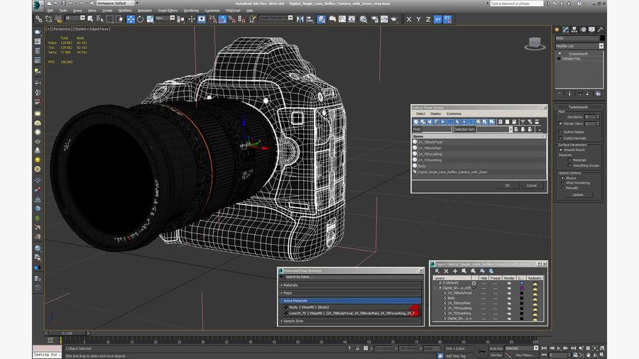 Digitale Spiegelreflexkamera mit Zoom royalty-free 3d model - Preview no. 25