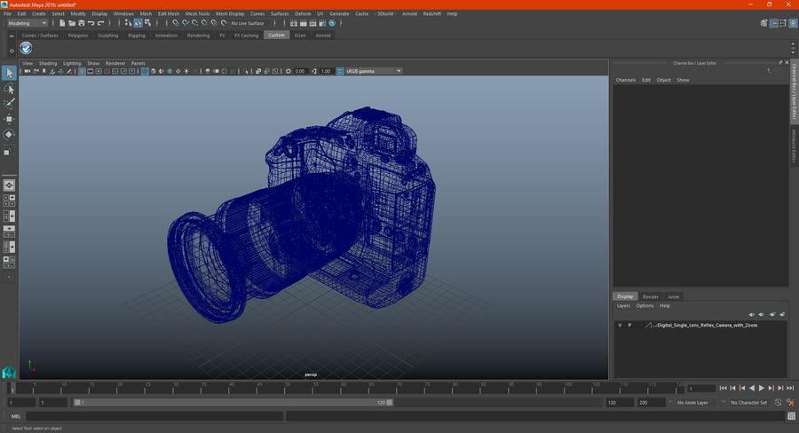 Digitale Spiegelreflexkamera mit Zoom royalty-free 3d model - Preview no. 32