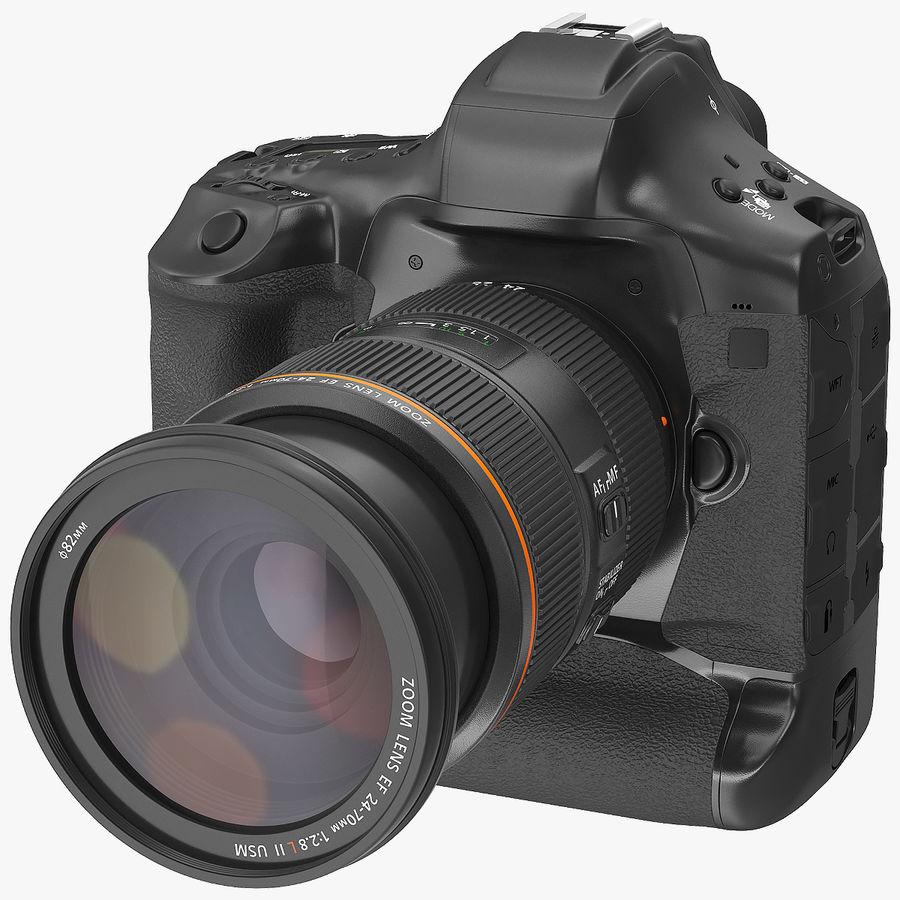 Digitale Spiegelreflexkamera mit Zoom royalty-free 3d model - Preview no. 1