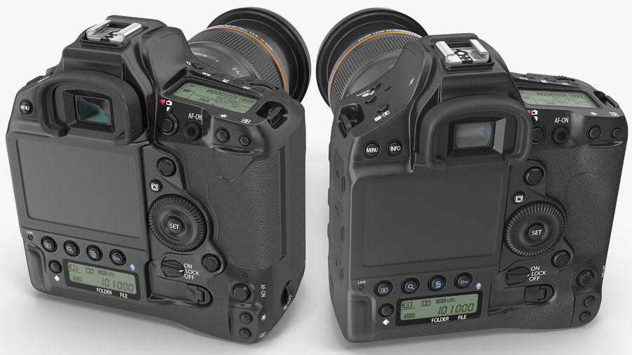 Digitale Spiegelreflexkamera mit Zoom royalty-free 3d model - Preview no. 7