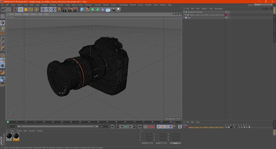 Digitale Spiegelreflexkamera mit Zoom royalty-free 3d model - Preview no. 31