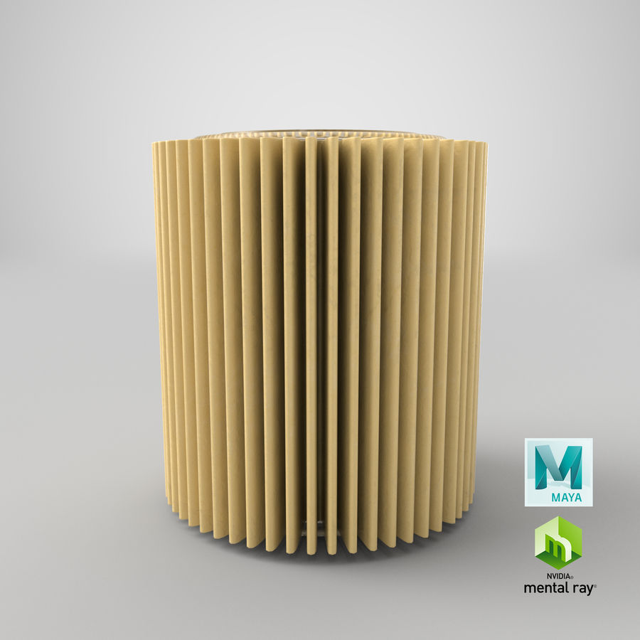 Oil Filter Element royalty-free 3d model - Preview no. 31