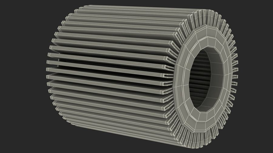 Oil Filter Element royalty-free 3d model - Preview no. 22