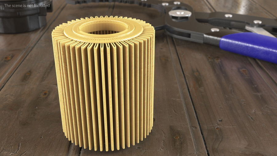Oil Filter Element royalty-free 3d model - Preview no. 3
