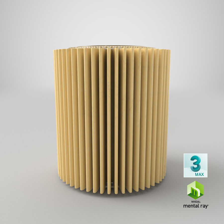 Oil Filter Element royalty-free 3d model - Preview no. 28