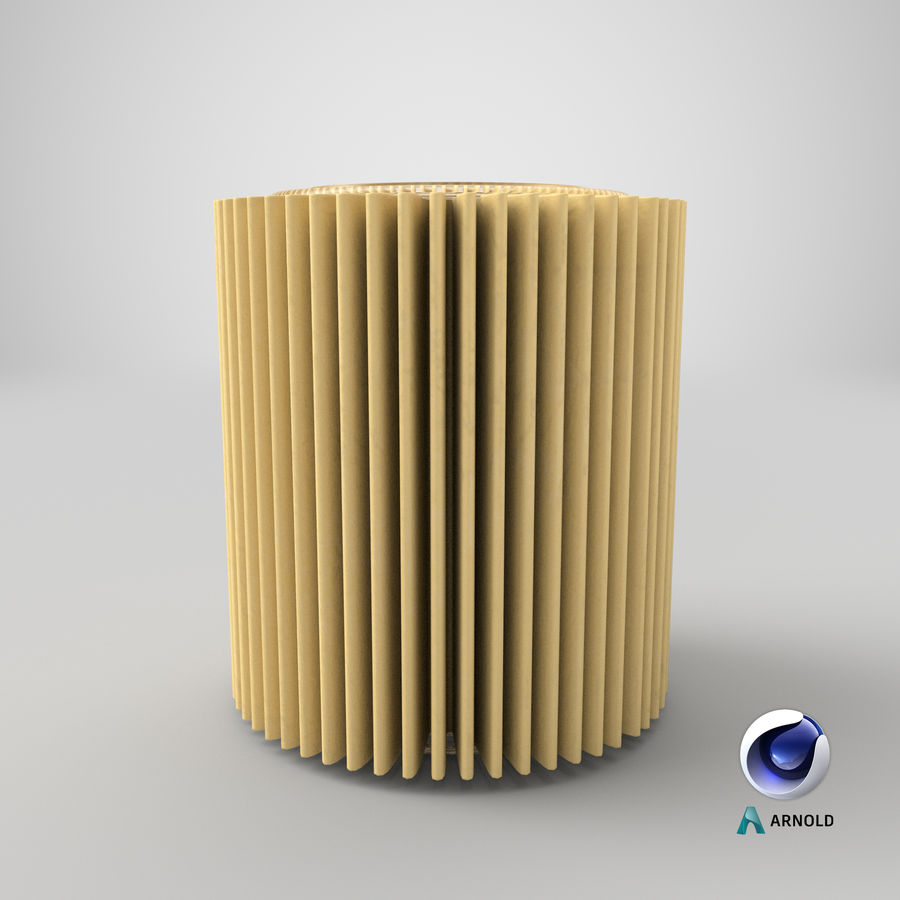 Oil Filter Element royalty-free 3d model - Preview no. 24