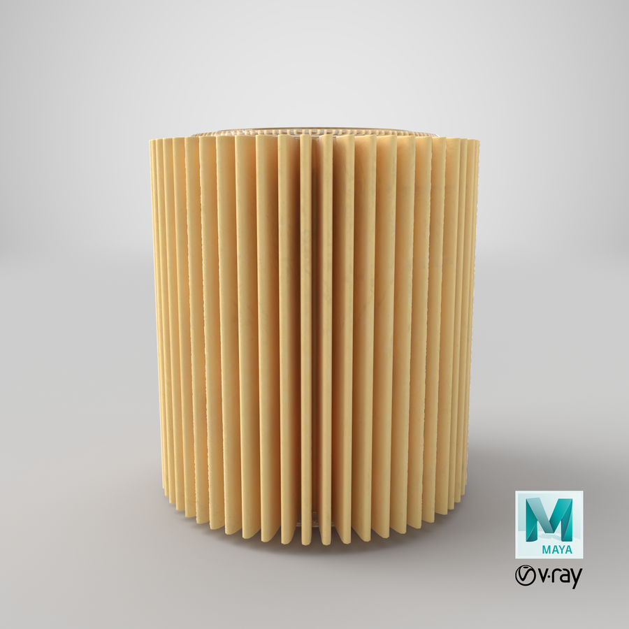 Oil Filter Element royalty-free 3d model - Preview no. 32