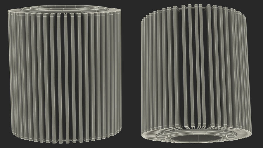 Oil Filter Element royalty-free 3d model - Preview no. 20